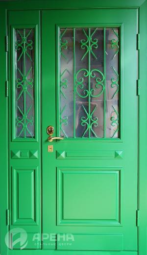 входные двери с стеклопакетом и ковкой от производителя в домодедово