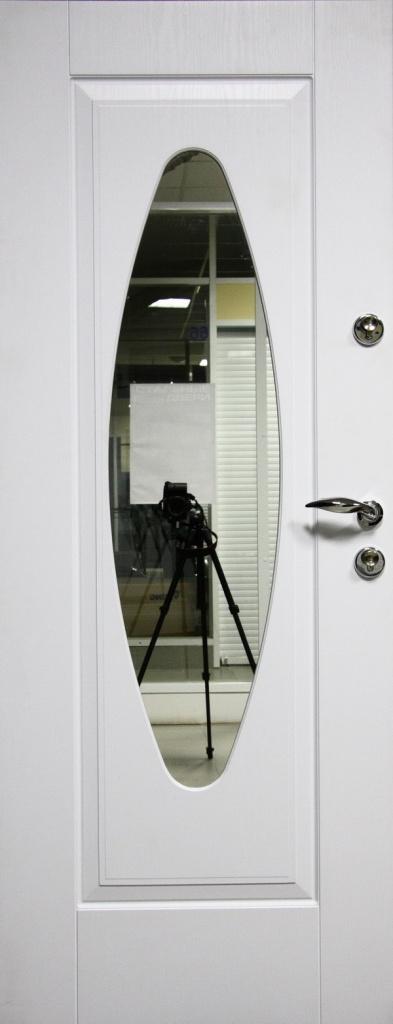 металлическая входная дверь мдф белый зеркало